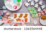 flat lay. step by step.... | Shutterstock . vector #1363564448