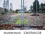 Metal Gates Of Mesh With...