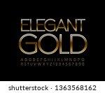 vector elegant gold alphabet... | Shutterstock .eps vector #1363568162