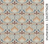 retro wallpaper and vintage... | Shutterstock .eps vector #1363570628