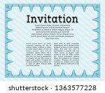 light blue invitation. with... | Shutterstock .eps vector #1363577228