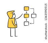 businessman and diagram  doodle ... | Shutterstock .eps vector #1363590515