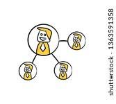 businessman network  doodle... | Shutterstock .eps vector #1363591358