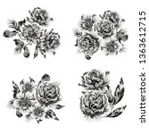 flowers set. collection of... | Shutterstock . vector #1363612715