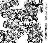 flower print. elegance seamless ... | Shutterstock . vector #1363613012