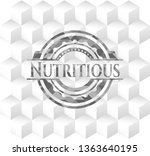 nutritious grey badge with... | Shutterstock .eps vector #1363640195