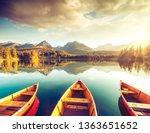 calm lake in national park high ...   Shutterstock . vector #1363651652
