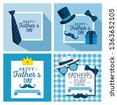 set card decoration to fathers... | Shutterstock .eps vector #1363652105