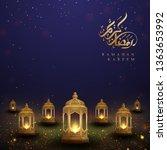 ramadan kareem background with... | Shutterstock .eps vector #1363653992