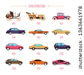 cars evolution retro vehicles... | Shutterstock .eps vector #1363661978
