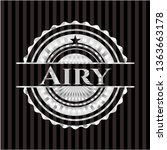 airy silvery badge or emblem | Shutterstock .eps vector #1363663178