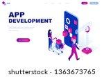 modern flat design isometric... | Shutterstock .eps vector #1363673765