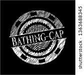 bathing cap written on a... | Shutterstock .eps vector #1363688345