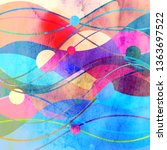 abstract watercolor background... | Shutterstock . vector #1363697522