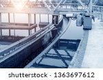 sewage treatment plant pool    Shutterstock . vector #1363697612