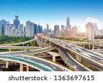complex multi storey viaduct ...   Shutterstock . vector #1363697615