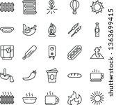 thin line vector icon set  ... | Shutterstock .eps vector #1363699415