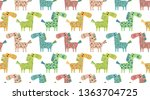 vector seamless pattern with...   Shutterstock .eps vector #1363704725