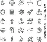 thin line vector icon set  ... | Shutterstock .eps vector #1363707125