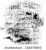 grunge halftone textures.... | Shutterstock . vector #136370852