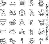 thin line vector icon set  ...   Shutterstock .eps vector #1363710905