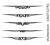 decorative elements  border and ...   Shutterstock . vector #1363712792