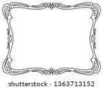 art nouveau black ornamental... | Shutterstock . vector #1363713152
