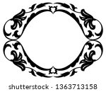 oval baroque ornamental... | Shutterstock . vector #1363713158
