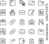 thin line vector icon set  ... | Shutterstock .eps vector #1363715375