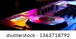 dj controller close up view in... | Shutterstock . vector #1363718792