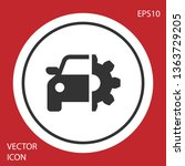 grey car service icon isolated... | Shutterstock .eps vector #1363729205