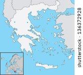 greece map | Shutterstock .eps vector #136372928