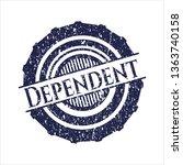 blue dependent distress rubber... | Shutterstock .eps vector #1363740158