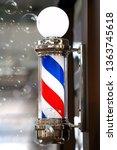 barber shop vintage pole with... | Shutterstock . vector #1363745618