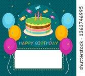 happy birthday card design... | Shutterstock .eps vector #1363746995