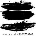 grunge paint roller . vector... | Shutterstock .eps vector #1363753742