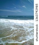 beautiful seashore straight...   Shutterstock . vector #1363792985