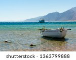 old wooden fishing boat in the... | Shutterstock . vector #1363799888
