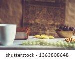 eid mubarak. different iftar... | Shutterstock . vector #1363808648