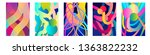 set of colorful cards with... | Shutterstock .eps vector #1363822232