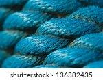 Closeup Of Blue Rope