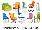 modern chair furniture... | Shutterstock .eps vector #1363830635