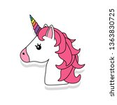 unicorn vector icon isolated on ... | Shutterstock .eps vector #1363830725