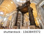 vatican city  vatican   march... | Shutterstock . vector #1363845572