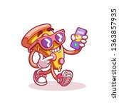 call the pizza by phone. logo... | Shutterstock .eps vector #1363857935