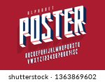 protest display font design ... | Shutterstock .eps vector #1363869602