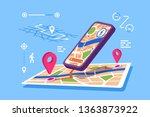 location maps online...   Shutterstock .eps vector #1363873922