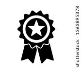reward grade star  award ribbon ... | Shutterstock .eps vector #1363895378