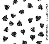 black and white pattern of... | Shutterstock .eps vector #1363902965
