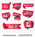 sale shop product tag  label or ... | Shutterstock .eps vector #1363905092